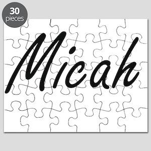 Micah artistic Name Design Puzzle