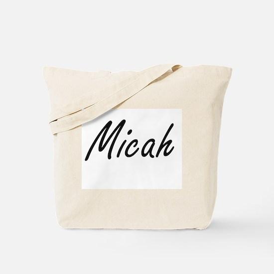 Micah artistic Name Design Tote Bag