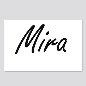 Mira artistic Name Design Postcards (Package of 8)
