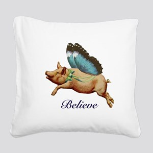 Believe Square Canvas Pillow