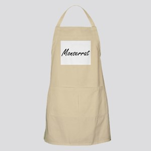Monserrat artistic Name Design Apron