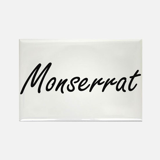Monserrat artistic Name Design Magnets