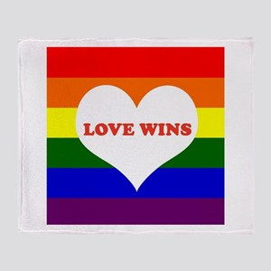 Love Wins Throw Blanket