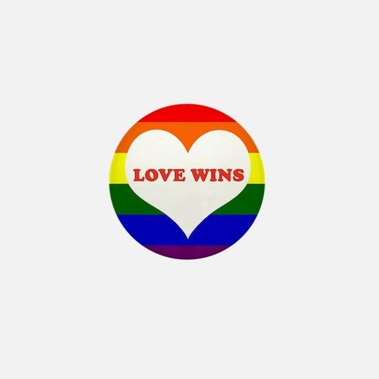 Love Wins Mini Button