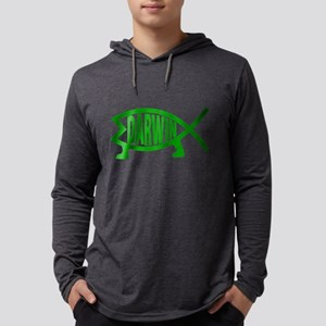 Original Darwin Fish (Green) Long Sleeve T-Shirt