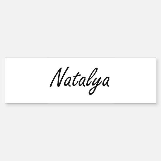Natalya artistic Name Design Bumper Bumper Bumper Sticker