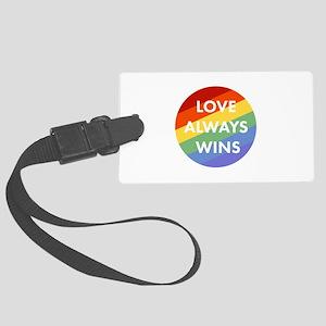 Love Wins Large Luggage Tag