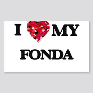 I Love MY Fonda Sticker