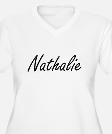 Nathalie artistic Name Design Plus Size T-Shirt