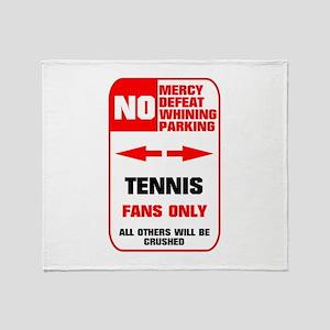 no parking tennis Throw Blanket