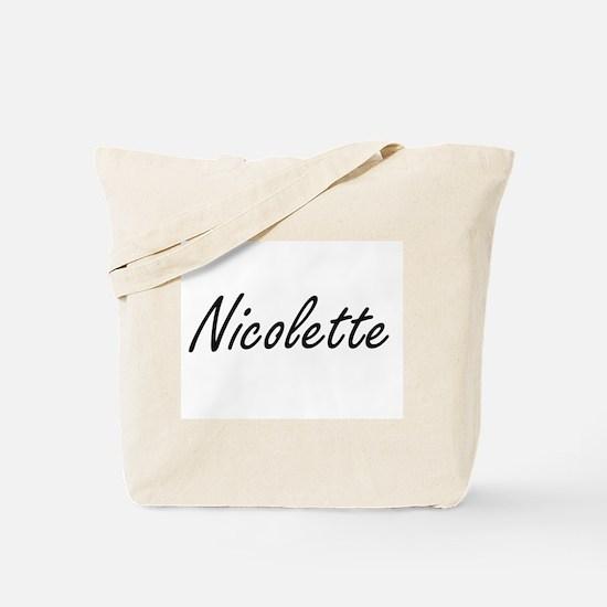 Nicolette artistic Name Design Tote Bag