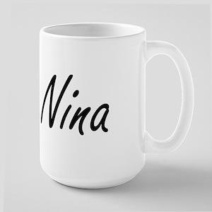 Nina artistic Name Design Mugs