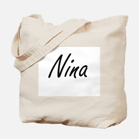 Nina artistic Name Design Tote Bag