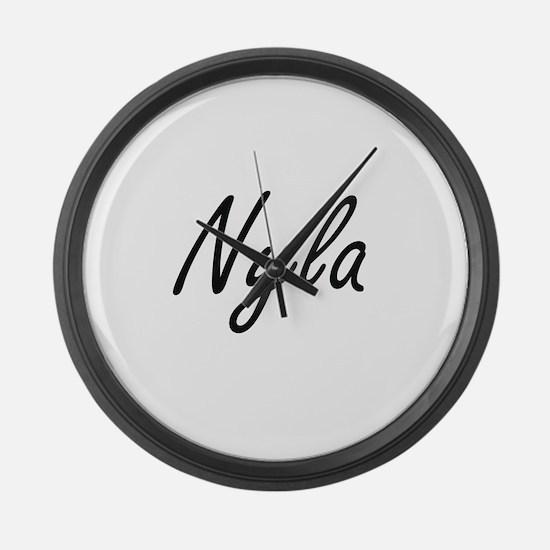 Nyla artistic Name Design Large Wall Clock