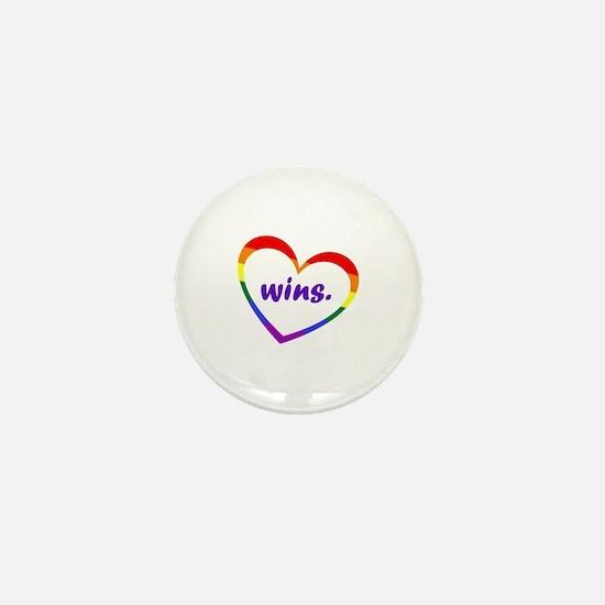 Cool Love wins Mini Button