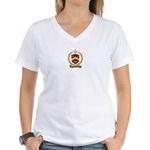 BELLEHUMEUR Family Crest Women's V-Neck T-Shirt