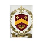 BELLEHUMEUR Family Crest Rectangle Magnet (100 pac