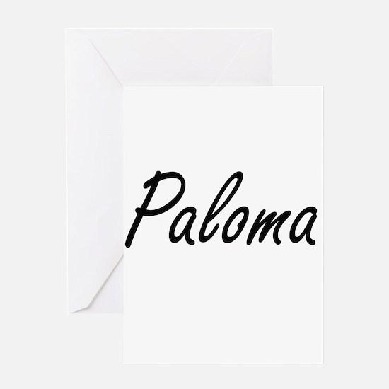 Paloma artistic Name Design Greeting Cards