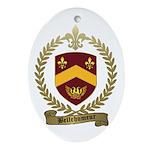 BELLEHUMEUR Family Crest Oval Ornament