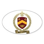 BELLEHUMEUR Family Crest Oval Sticker