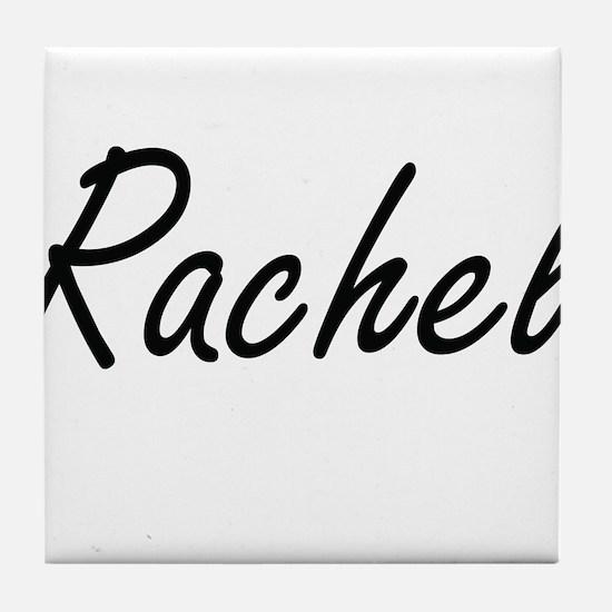 Rachel artistic Name Design Tile Coaster