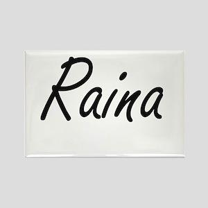 Raina artistic Name Design Magnets