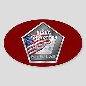 Heroes & Friends Oval Sticker
