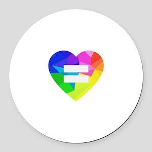 Love Wins Round Car Magnet