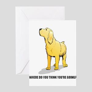 Rude Labrador Retriever Greeting Cards (Package of