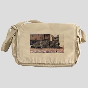 egyptian mau laying Messenger Bag