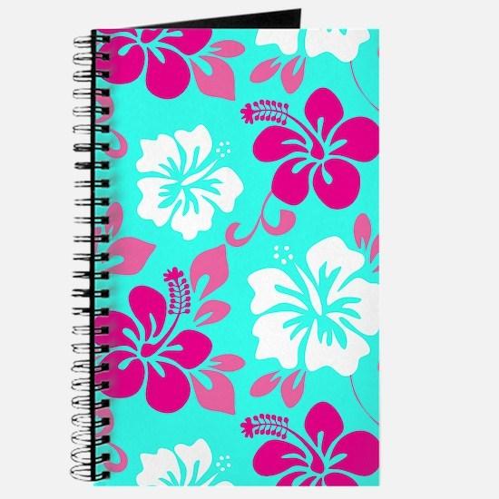 Cyan-magenta-white Hawaiian hibiscus Journal