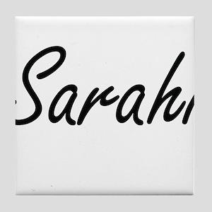 Sarahi artistic Name Design Tile Coaster