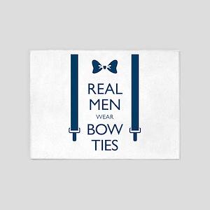 Real Men Wear Bow Ties 5'x7'Area Rug