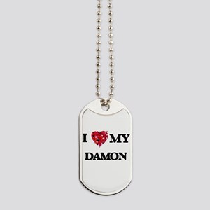 I Love MY Damon Dog Tags