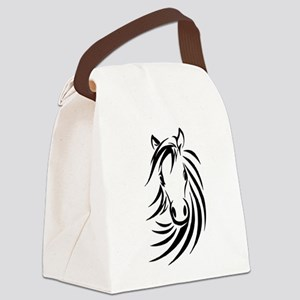 Black Horse Canvas Lunch Bag