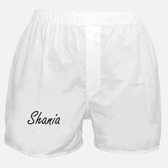 Shania artistic Name Design Boxer Shorts