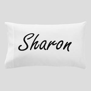 Sharon artistic Name Design Pillow Case