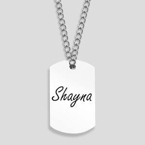 Shayna artistic Name Design Dog Tags
