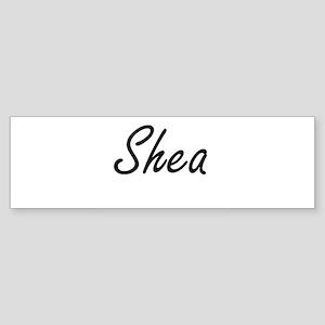 Shea artistic Name Design Bumper Sticker