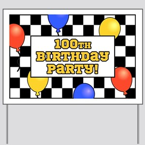 100th Birthday Party Yard Sign