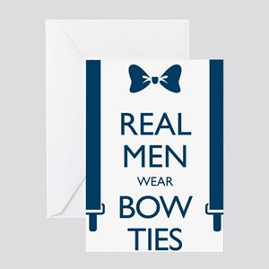 Real Men Wear Bow Ties Greeting Cards