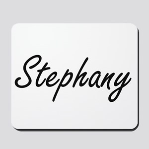 Stephany artistic Name Design Mousepad