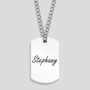 Stephany artistic Name Design Dog Tags