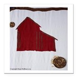 "Barn Square Car Magnet 3"" X 3"""
