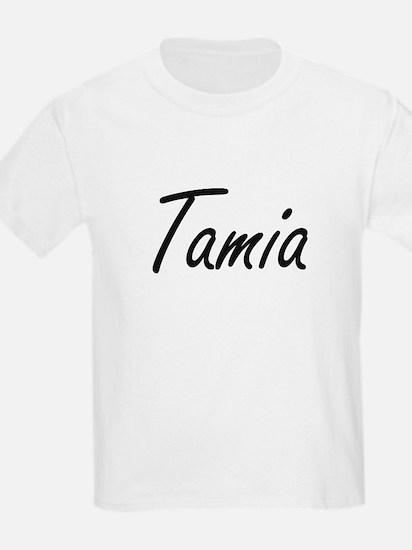 Tamia artistic Name Design T-Shirt
