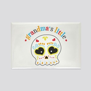 Grandma's Sugar Skull Rectangle Magnet