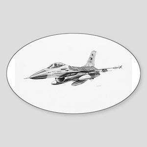 F-16 Pencil Prints by RKSmith Oval Sticker