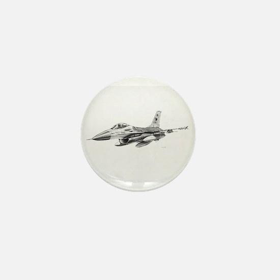F-16 Pencil Prints by RKSmith Mini Button