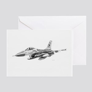 F-16 Pencil Prints by RKSmith Greeting Card