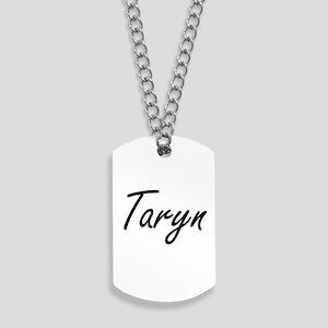 Taryn artistic Name Design Dog Tags